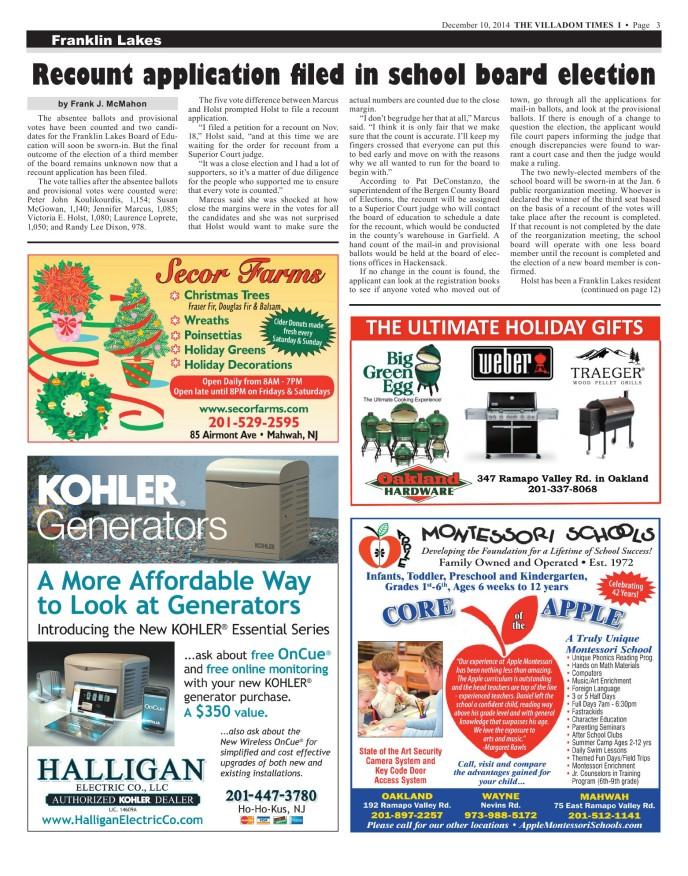 Villadom Times Weekly Newspaper Online - December 10, 2014 Issue