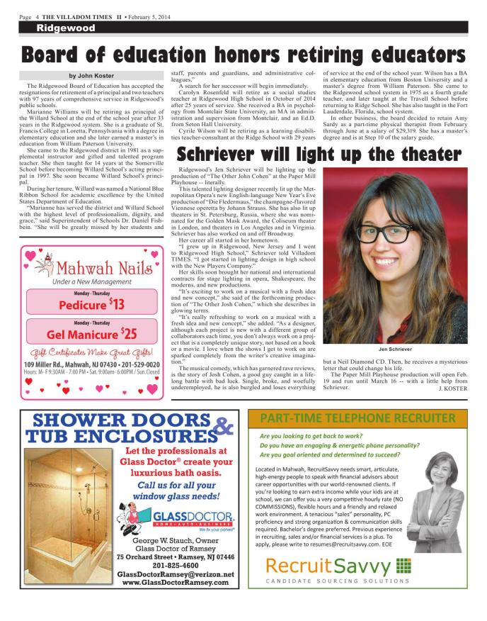 Villadom Times Weekly Newspaper Online - February 5, 2014 Issue